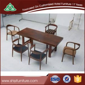Solid Surface Rectangle Table with Chairs for Dining Hotel Furniture pictures & photos