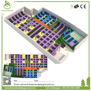 Wenzhou New Soft Indoor Amusement Trampoline Park with Safety pictures & photos