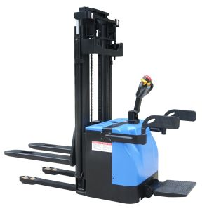 1t Operating Pedal Standing Electric Pallet Stacker pictures & photos