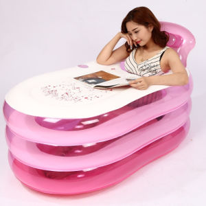 Big Size Pink PVC Inflatable Swim SPA Bathtub for Adult pictures & photos