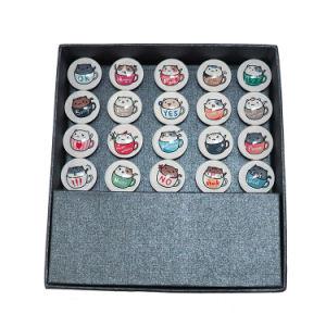 OEM Custom High Quality Glass Craft Fridge Magnet FM-1030 pictures & photos