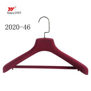Eco-Friendly Flocking Velvet Plastic Cloth Heavy Coat Hangers pictures & photos