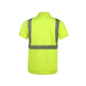 Short Sleeve High Visibility Reflective Safety Polo Shirt pictures & photos