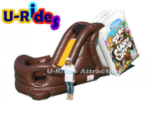 Milk chocolate inflatable slide for park pictures & photos
