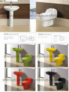 Ceramic One-Piece Toilet Siphonic Flushing S-Trap Popular Style (A-010) pictures & photos
