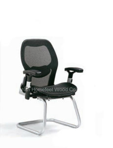 High Quality Metal Frame Mesh Fabric Meeting Visitor Office Chair (HF-634W18) pictures & photos