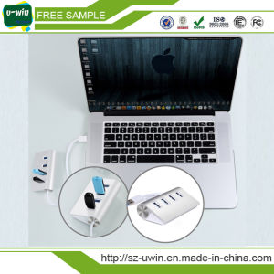 3.0 USB Aluminum 4 Ports USB 3.0 Hub pictures & photos