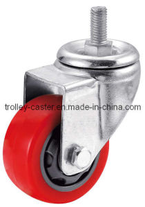 3 Inch Medium Duty Red PVC Caster Threaded Stem pictures & photos