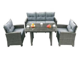 New Design Rattan Outdoor Furniture 4PCS Lounge Sofa Set pictures & photos