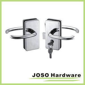 Mechanical Lock Glass Double Glass Door Swing Door Locks (GDL014B) pictures & photos