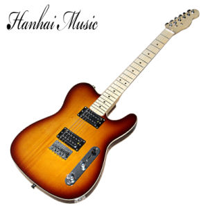 Hanhai Music / Tele Style Sunburst Electric Guitar with Maple Neck pictures & photos