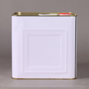 White 2 Gallon Square Tin Can with Spout Lid pictures & photos