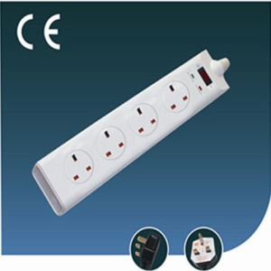 UK Standard Four Way Extension Socket with Switch pictures & photos