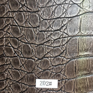 Synthetic Leather (Z02#) for Furniture/ Handbag/ Decoration/ Car Seat etc pictures & photos