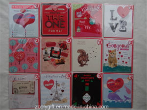 Customized Printing Happy Valentine′s Day Greeting Cards and Envelop pictures & photos