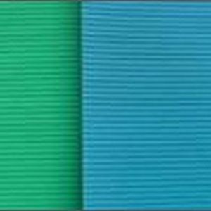 Green Blue Thin Ribbed Insulation Rubber Sheet pictures & photos