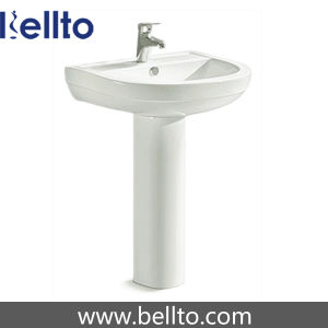 Bathroom Standing Basin with Pedestal (610) pictures & photos