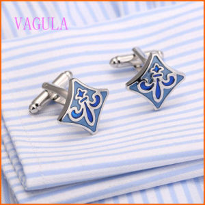 VAGULA High Quality Silver Plated Painting Wedding Gemelos Cuff Link pictures & photos