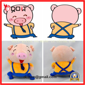 Custom Made Pig Plush Stuffed Toy with Necktie pictures & photos