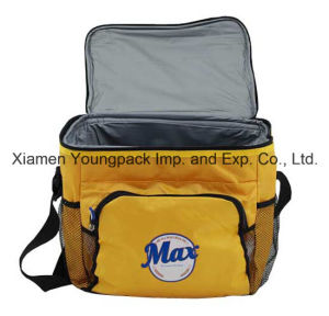 Custom Logo Printed Yellow 600d Oxford Fabric Insulated Cool Bag pictures & photos