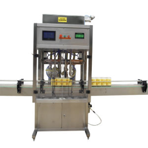 Automatic 4 Heads Linear Type Pneumatic Bottle Filling Machine pictures & photos