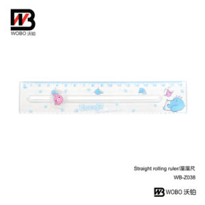 2016 Cartoon Rolling Plastic Ruler for Office Stationery