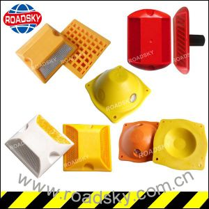 Double Sides Reflective Plastic Road Stud for Roadway Safety pictures & photos