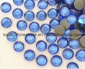 Factory Glass Crystal Hotfix Rhinestone for Wholesale (SS16 Lt sapphire/A Grade) pictures & photos