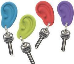 Hot Sell Silicone Ear Ring Shape Key Ring /Key Chain pictures & photos