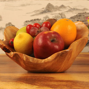Fashion Handmade Carved Top Quality Wooden Fruit Plate