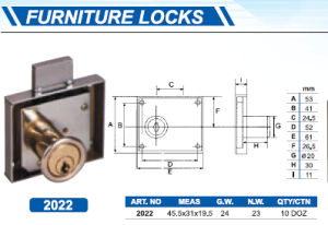 High Quality Furniture Drawer Lock pictures & photos