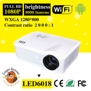 1280*800 Support 720p/1080P 15 Degree Physical Correction LED Projector