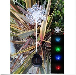 Solar Powered Snowflakes Garden Yard