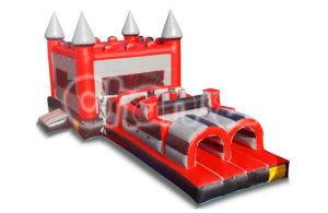 Red Silver Inflatable Bouncer Castle Combo Inflatable Obstacle Course pictures & photos