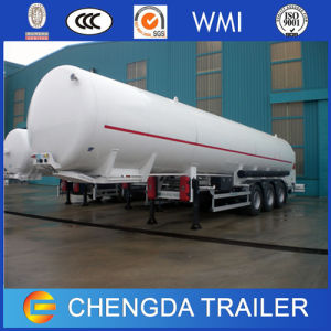 China Made 50m3 Double Layer Pressure LNG Tank Trailer LNG Storage Tank pictures & photos
