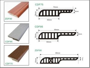 Floorng a⪞ ⪞ Essories of &⪞ Aret; 0mm Height Glue Installnation MDF Shape PVC Skirting pictures & photos