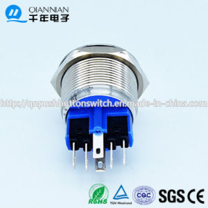 22mm DOT LED Lacthing 1no1nc Indicate Stainless Steel Switch pictures & photos
