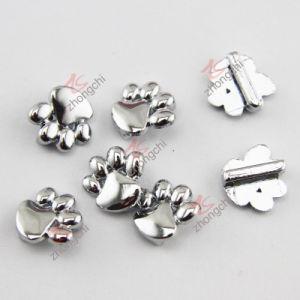 Zinc Alloy Metal Silver Paw Charm Fit Leather Bracelet (JP08)