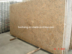 Polished Giallo Granite Slab for Countertop, Vanity Top pictures & photos