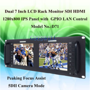 Metal Frame Dual 7 Inch TFT LCD Monitor pictures & photos