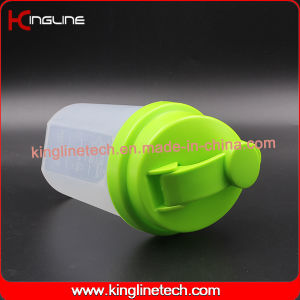500ml BPA Free Plastic Protein Shaker Bottle with Filter (KL-7012B) pictures & photos