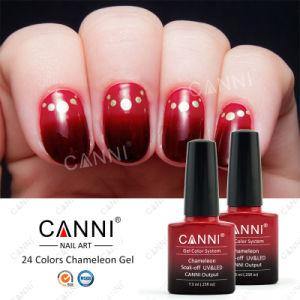 #50801W 2016 Nail Art Beauty Wholesale Temperature Color Changing Nail Color Gel 7.3ml Canni UV LED Nail Gel Thermal Nail Polish