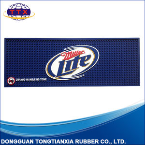 Good Quality Custom Logo Soft PVC Bar Rail Mat pictures & photos