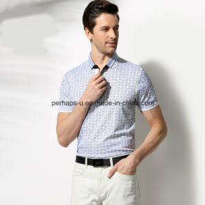 High Quality Skinny Printing Check Men Polo Shirt Sports Wear pictures & photos