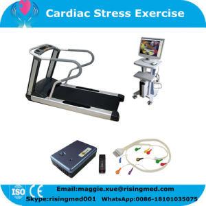 Professional Automatic ECG Stress Test System PC Based Wireless for Cardiac Stress Exercise with Ce ISO Approved Treadmill Javier pictures & photos