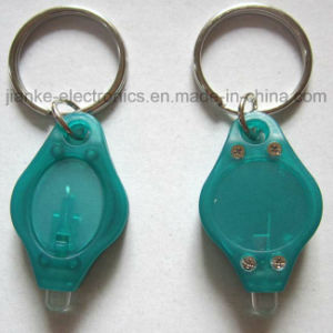 Hot Sell LED Flashing Key Chain with Logo Print (3032) pictures & photos