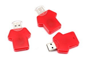 Plastic USB Flash Drives, T-Shirt Style USB Flash Memory for Computer, Promotional Items 2GB / 4GB / 8GB / 16GB / 32GB pictures & photos