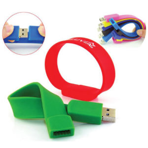 Free Logo Wristband USB Flash Drive 8GB, 16GB, 32GB for Choose (SWD) pictures & photos