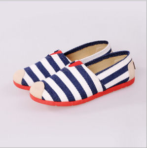 Canvas Shoes Flats High Quality Lazy Shoes for Women (AKFB1) pictures & photos