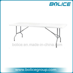 8ft Rectangle Plastic Trestles Folding Table pictures & photos